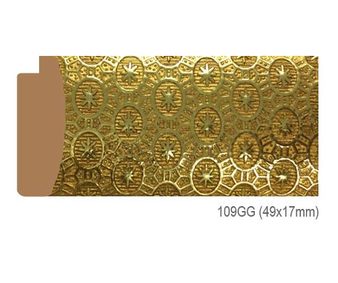 Thanh khung, phào (nẹp) làm khung tranh, khung hình mã 109GG