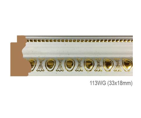 Thanh khung, phào (nẹp) làm khung tranh, khung hình mã 113WG
