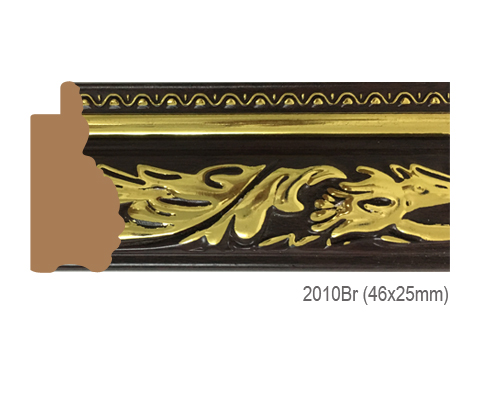 Thanh khung, phào (nẹp) làm khung tranh, khung hình mã 2010BR