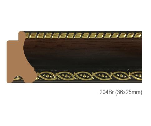 Thanh khung, phào (nẹp) làm khung tranh, khung hình mã 204BR