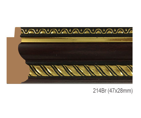 Thanh khung, phào (nẹp) làm khung tranh, khung hình mã 214BR
