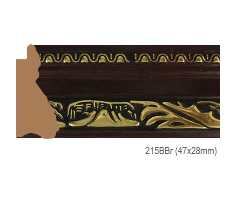 Thanh khung, phào (nẹp) làm khung tranh, khung hình mã 215BBR