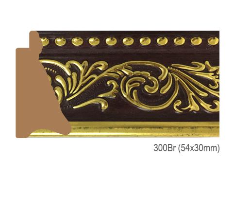 Thanh khung, phào (nẹp) làm khung tranh, khung hình mã 300BR