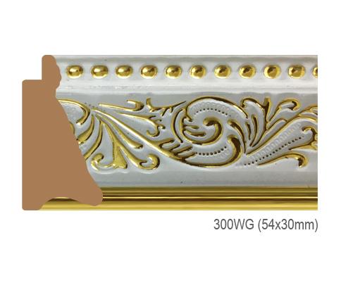 Thanh khung, phào (nẹp) làm khung tranh, khung hình mã 300WG