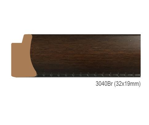 Thanh khung, phào (nẹp) làm khung tranh, khung hình mã 3040BR