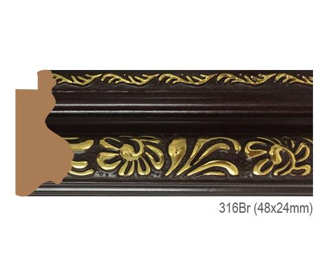Thanh khung, phào (nẹp) làm khung tranh, khung hình mã 316BR