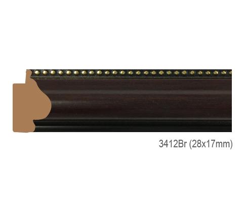 Thanh khung, phào (nẹp) làm khung tranh, khung hình mã 3412BR
