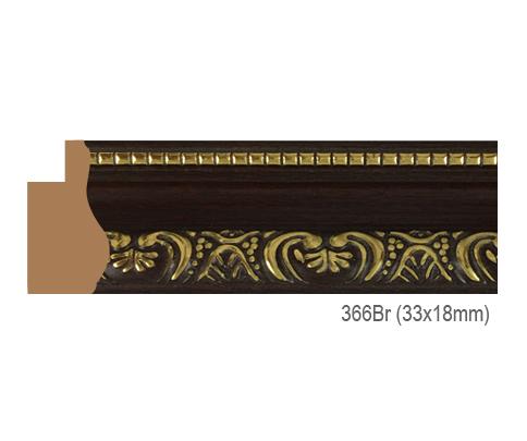 Thanh khung, phào (nẹp) làm khung tranh, khung hình mã 366BR