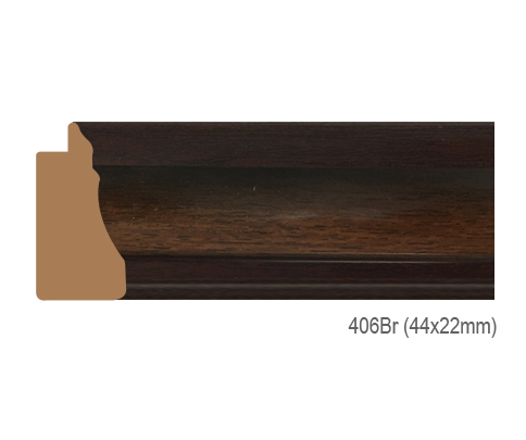 Thanh khung, phào (nẹp) làm khung tranh, khung hình mã 406BR