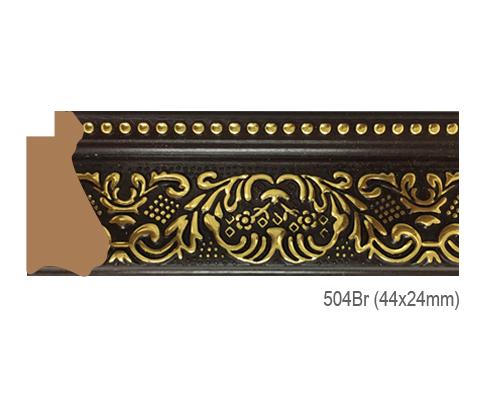Thanh khung, phào (nẹp) làm khung tranh, khung hình mã 504BR
