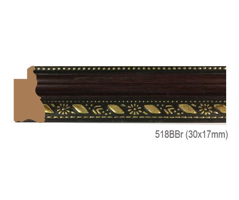 Thanh khung, phào (nẹp) làm khung tranh, khung hình mã 518BBR