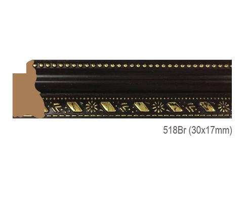 Thanh khung, phào (nẹp) làm khung tranh, khung hình mã 518BR