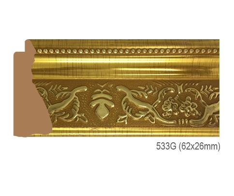 Thanh khung, phào (nẹp) làm khung tranh, khung hình mã 533G