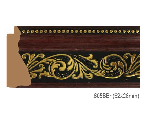Thanh khung, phào (nẹp) làm khung tranh, khung hình mã 605BBR