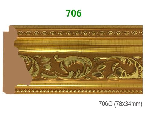 Thanh khung, phào (nẹp) làm khung tranh, khung hình mã 706G