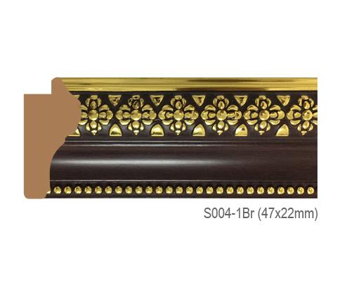 Thanh khung, phào (nẹp) làm khung tranh, khung hình mã S004-1BR