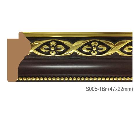 Thanh khung, phào (nẹp) làm khung tranh, khung hình mã S005-1BR